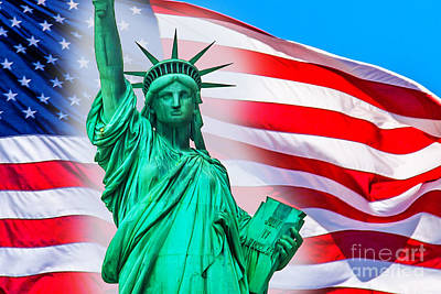 Statue Of Liberty Photograph - Pride Of America by Az Jackson
