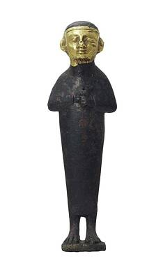 Statue Portrait Photograph - Priest. 8th-7th C. Bc. Iberian Art by Everett