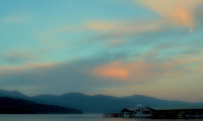 Priest Lake At Dusk II Print by David Patterson