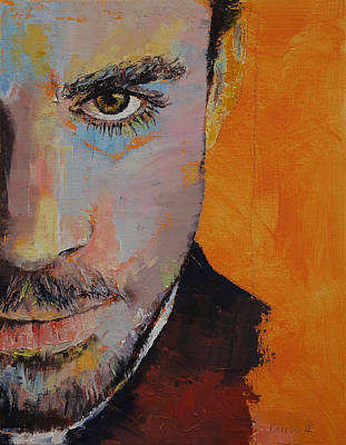 Anime Painting - Priest by Michael Creese