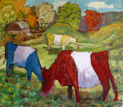 Primary Cows Print by Paul Emory