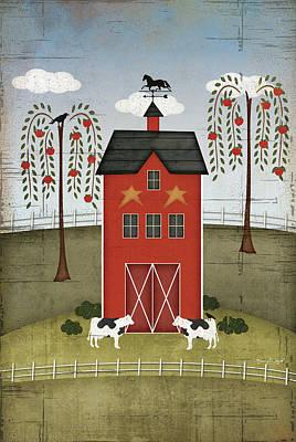 Primitive Barn Print by Jennifer Pugh