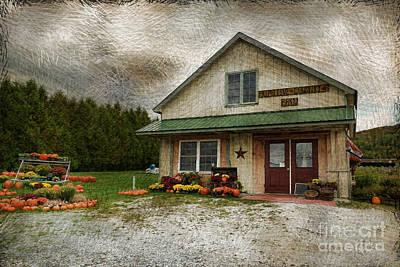 Vermont Country Store Photograph - Primitive Country Barn by Deborah Benoit