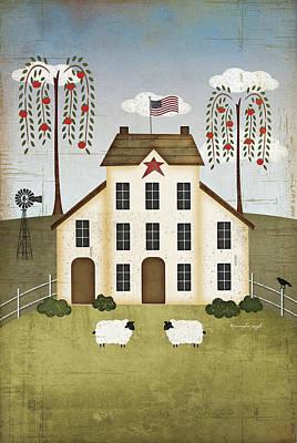 Primitive House Print by Jennifer Pugh