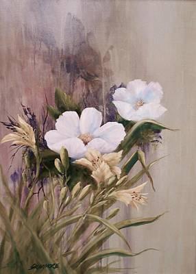 Primroses And Lillies  # 060 Original by Frederick  Skidmore