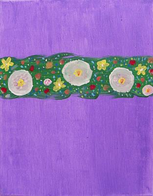 Primroses And Stars In My Garden Original by Lenore Senior