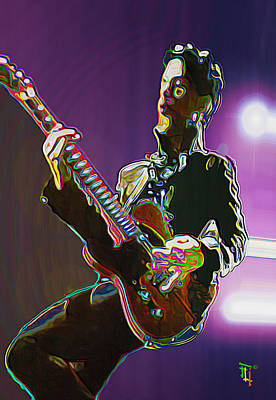 Musician Digital Art - Prince by  Fli Art