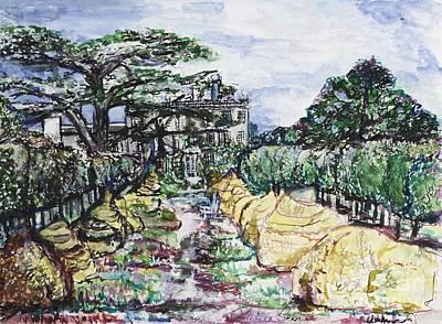 Wales Mixed Media - Prince Charles Gardens by Helena Bebirian