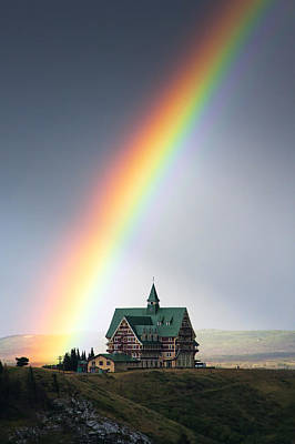 Prince Of Wales Rainbow Print by Mark Kiver