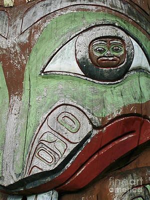 British Columbia Photograph - Prince Rupert Totem by Sue Harper
