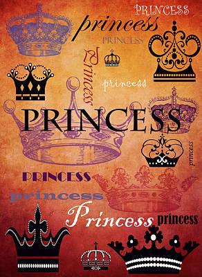 Wife Mixed Media - Princess 2 by Angelina Vick