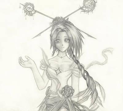 Cosmic Drawing - Princess Altiana by Shawn Dall
