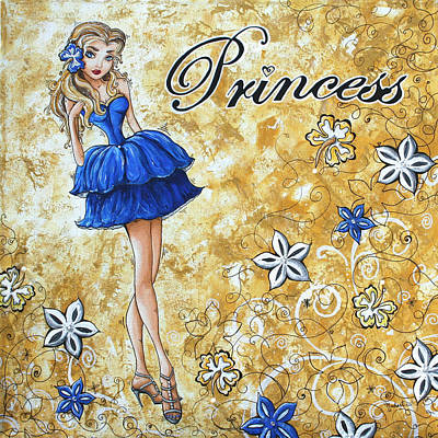 Stilettos Painting - Princess By Madart by Megan Duncanson
