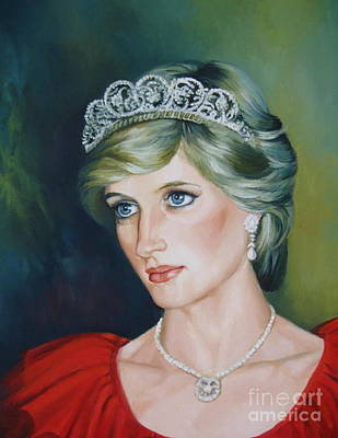 Princess Diana Print by Elena Oleniuc