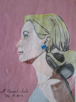 Princess Grace  Print by Fladelita Messerli-