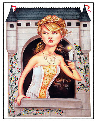 Taylor Swift Digital Art - Princess In The Tower by Brian Graybill