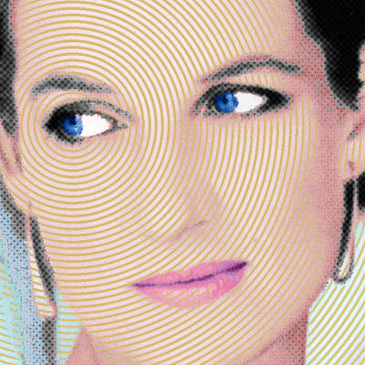 Great Britain Mixed Media - Princess Lady Diana Square by Tony Rubino