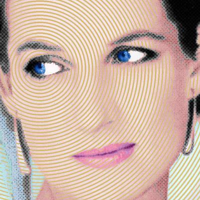 Princess Lady Diana Square Print by Tony Rubino