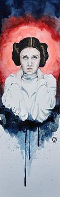 Princess Painting - Princess Leia by David Kraig