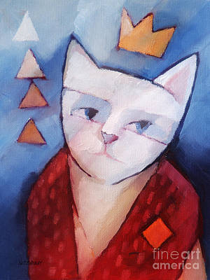 Cat Images Painting - Princess by Lutz Baar