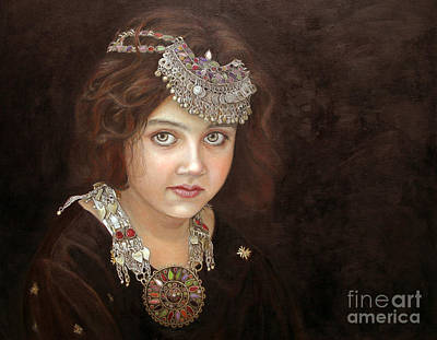Ethnic Art Painting - Princess Of The East by Enzie Shahmiri