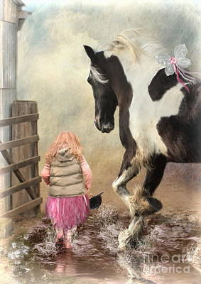 Princess Puddles And Sir Stamp Alot Print by Trudi Simmonds
