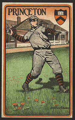 Baseball Painting - Princeton Baseball, C1903 by Granger
