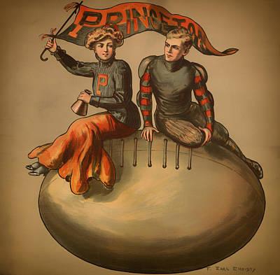 Princeton Football 1907 Print by Mountain Dreams
