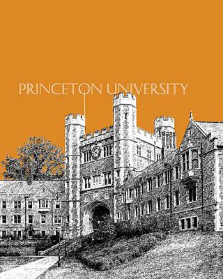 Princeton University - Dark Orange Print by DB Artist