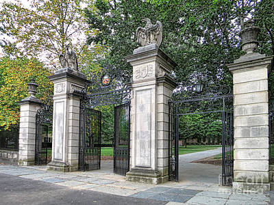 Traditional Photograph - Princeton University Main Gate by Olivier Le Queinec
