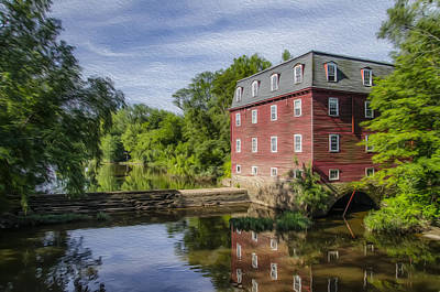 River Photograph - Princeton's Kingston Mill by Bill Cannon