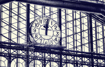 Window Signs Photograph - Principe Pio Clock by Joan Carroll
