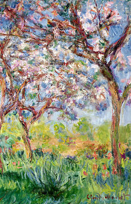 Printemps A Giverny Print by Claude Monet