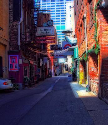 Printers Alley Nashville Tennessee Print by Dan Sproul