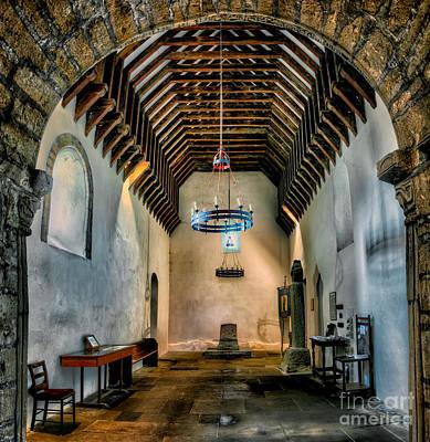 Beam Digital Art - Priory Church Of St Seiriol by Adrian Evans