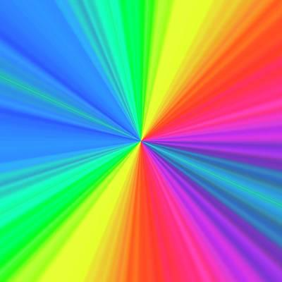 Rgb Photograph - Prismatic Pattern by Mehau Kulyk