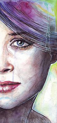 Beautiful Woman Mixed Media - Prismatic Visions by Olga Shvartsur