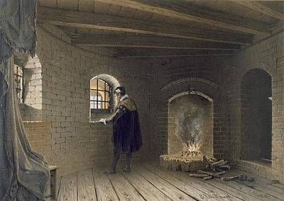 Sweden Drawing - Prison Of Duke John, Son Of Gustav I by Karl Johann Billmark
