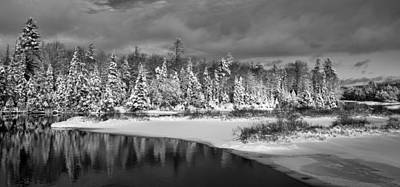 New York Photograph - Pristine Snow On The Moose River by David Patterson