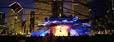 Stage Theater Photograph - Pritzker Pavilion, Millennium Park by Panoramic Images