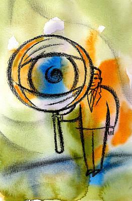 Invade Painting - Privacy by Leon Zernitsky