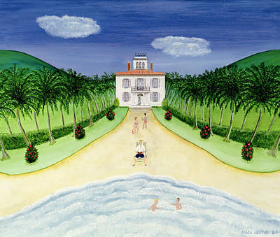 Private Beach Print by Mark Baring