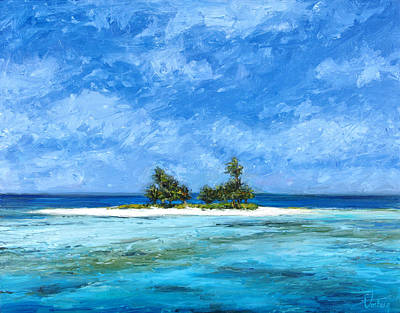 Haleiwa Painting - Private Cay by Stacy Vosberg