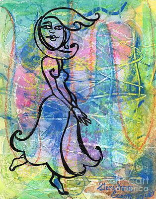 Dancing Girl Painting - Private Dancer by Genevieve Esson