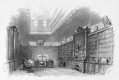 Library Painting - Private Library, C1850 by Granger