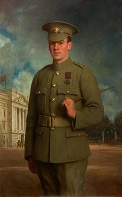 First World War Painting - Private Thomas Whitham, Vc, 1918 by Isaac Cooke
