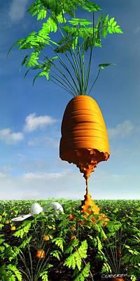 Carrot Digital Art - Prizewinner by Cynthia Decker