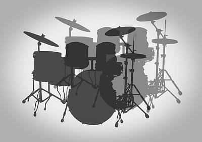 Kicking Digital Art - Pro Drum Set by Daniel Hagerman