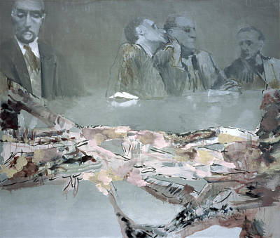 Abstract Collage Painting - Proceres by Simon Edmondson