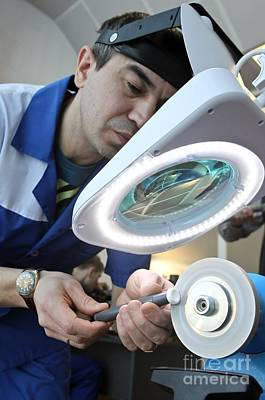 Component Photograph - Producing A Small Joint Replacement by Ria Novosti